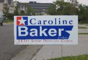 Judge Caroline Baker Campaign Poster 151st District Court Harris County TX